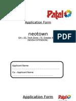 Application Form Sec-04, GNOIDA