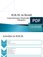 HRM Practices in Retail - Croma