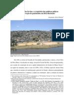 A MEMÓRIA DAS FAVELAS E AS POLÍTICAS DE PRESERVAÇÃO EM BELO HORIZONTE_publicação