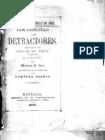 Los Jesuitas i sus detractores. Refutación del Código de los Jesuitas publicada en La Estrella de Chile. (1870)