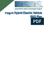 Hydrogen Plug-In Hybrid Electric Vehicle (PHEV) R&D Plan