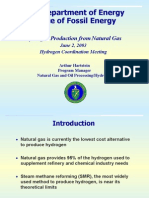 Hydrogen Production From Natural Gas