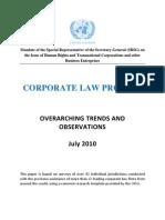 Ruggie Corporate Law Project Jul 2010
