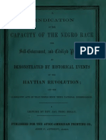 James Theodore Holly--A Vindication of the Capacity of the Negro Race for Self-Government (1857).