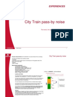 City Train Pass-By Noise