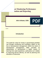 Budget Monitoring and Performance Evaluation