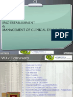 Site Management  Organization (SMO) Establishment & Management of a Clinical Evaluation