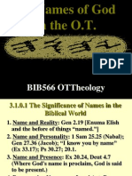 3.1-Names of God in the OT