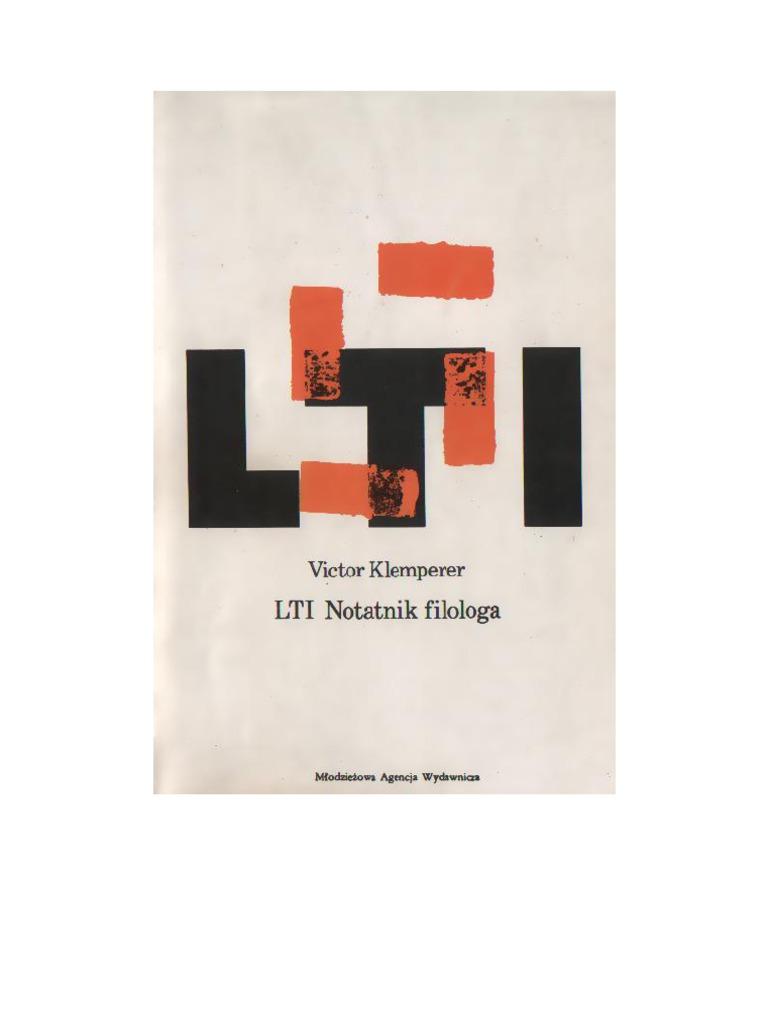 1e1381cb3a4cfe Klemperer, Victor - Lingua Tertii Imperii - 1989 (Zorg)