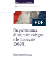 Plan Gouvernemental 2008 2011 French DRUGS