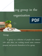 Managing Group in the Organization