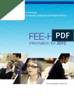 2012 Booklet FEE-HELP