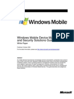 Windows Mobile Device Management and Security Solutions