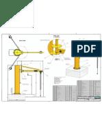 2 Tonne Spark Resistant 220Model Post Swing Jib Crane -1