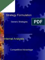 StrategyFormulation-GenericStrategies