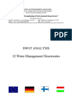 2.2) SWOT Analysis of Water Management Directorates