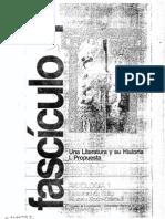 """Revista  Fascículos 1  """" Una Literatura y su historia"""" Zulma Palermo -Elena  Altuna"""