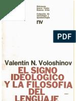 voloshinov - el signo ideológico y la filosofía del lenguaje