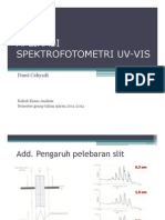 Aplikasi Spetrofotometri UV-Vis