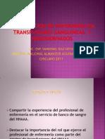 enfermeria transfusiones
