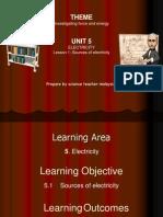 UNIT 5 Lesson 1 Electricity