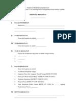 Format Proposal Kegiatan 2011-2012
