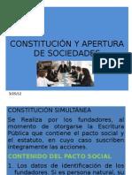 Constitucion y Apertura de Sociedades