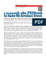 Facebook aka FEDbook the Shadow NSA Surveillance Network