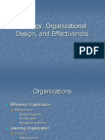 Strategy, Organizational Design, And Effectiveness