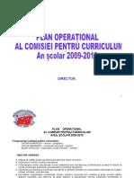 Plan Comisia Pentru Curriculum 2009_2010