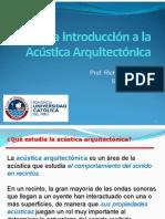 Una introducción a la Acústica Arquitectónica - v 22 Marzo