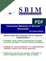 Consumer Behaviour in Service Encounter