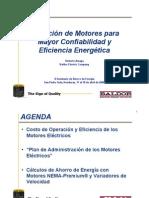 Seleccion de Motores Para Mayor Confiabilidad y Eficiencia Energetic A