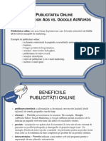 Publicitatea Online - Facebook Ads vs Google AdWords