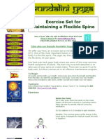 Kundalini Yoga - Exercise Set for Maintaining a Flexible Spine.