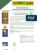 Kundalini Yoga - Exercise Set for Maintaining a Flexible Spine.