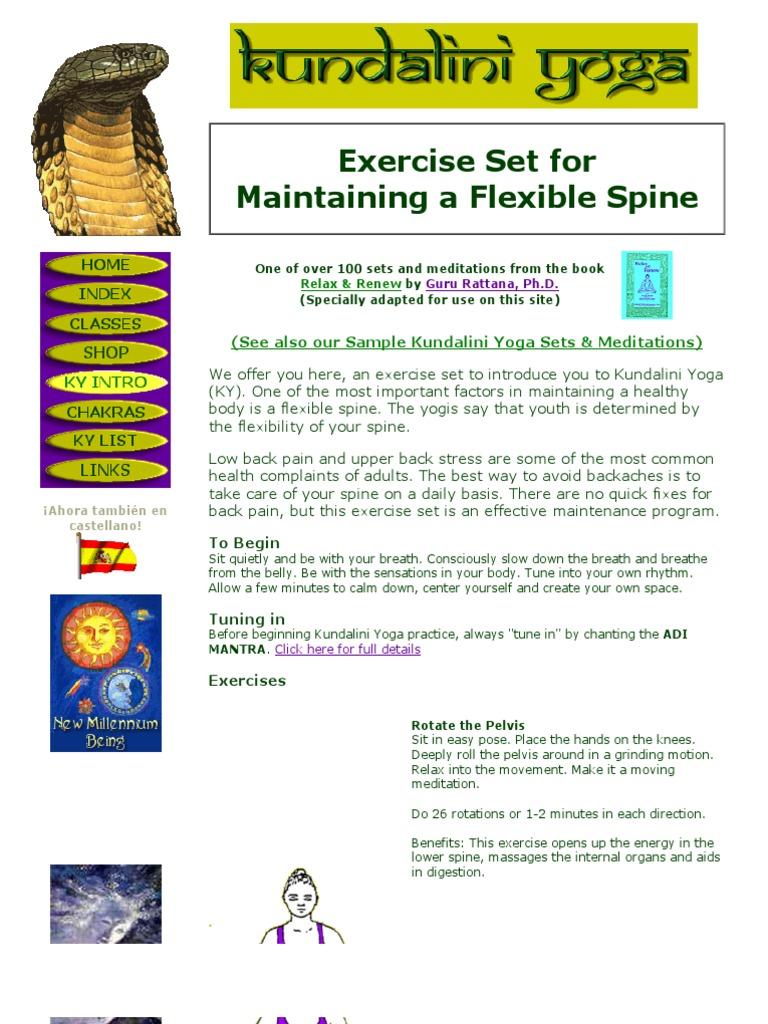 Kundalini Yoga - Exercise Set for Maintaining a Flexible Spine