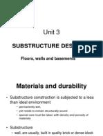 SUBSTRUCTURE DESIGN