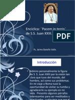 Encíclica Pacem in terris. Ps. Jaime Botello Valle