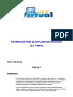 Formato de Brochure Cálclulo I