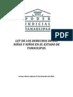 LEY DE LOS DERECHOS DE LAS NIÑAS Y NIÑOS EN EL ESTADO DE TAMAULIPAS