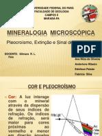 Mineralogia  Microscópica Seminário 4° semestre