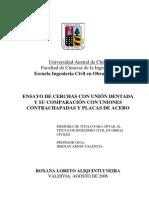 Cercha Union Dentada