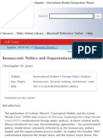 Bureaucratic Politics and Organizational Process Models _ the International