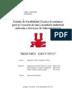 Estudio de Factibilidad Técnico-Económico Lavanderia Industrial