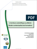 L'écriture scientifique au Bénin