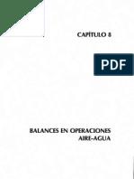 Capitulo 8 Balances de Materia y Energía, Dr. Antonio Valiente