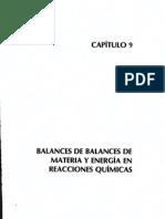 Capitulo 9 Balances de Materia y Enegía, Dr. Antonio Valiente