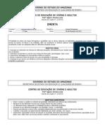 plano de curso de Língua Portuguesa - EJA 2012