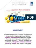 A- Developpement Des Medicaments